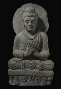 41 - Seated Buddha from Gandhara